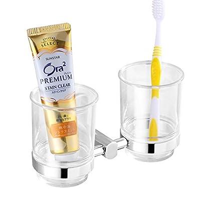 CNBBGJ Baño Brush set, con tambor de succión porta cepillo de dientes baño colgantes