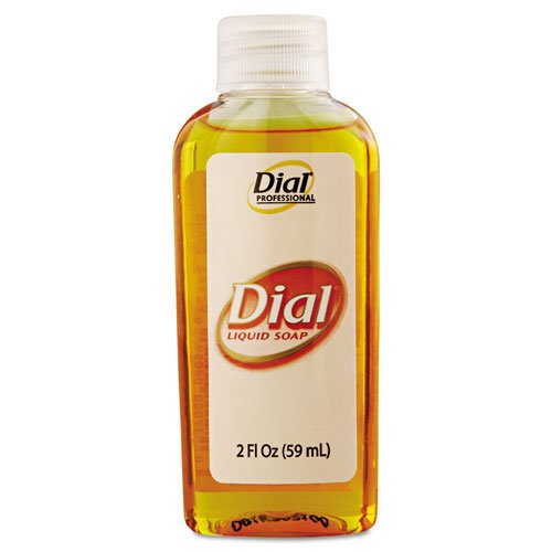 Dial Professional Gold Antimicrobial Soap, Unscented, 2 oz - Includes forty-eight 2 oz. bottles per case. by Dial