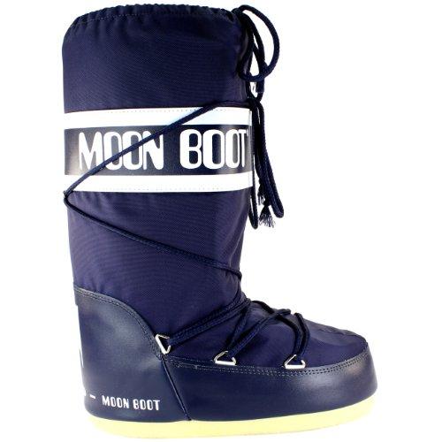Mujer Boot Tecnica Nieve Azul Para Zapatos Original Arranque De Nylon Moon Luna IqfBB