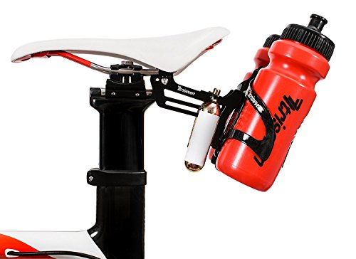 TriSeven Premium Cycling Saddle Cage Holder - Lightweight for Triathlon & MTB, Holds 2 Water Bottles & 2 co2 Cartridges | Does NOT Include Water Cages! by TriSeven (Image #2)