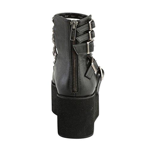 Vegan Blk 31 Grip Demonia Leather 4t1nqanwz