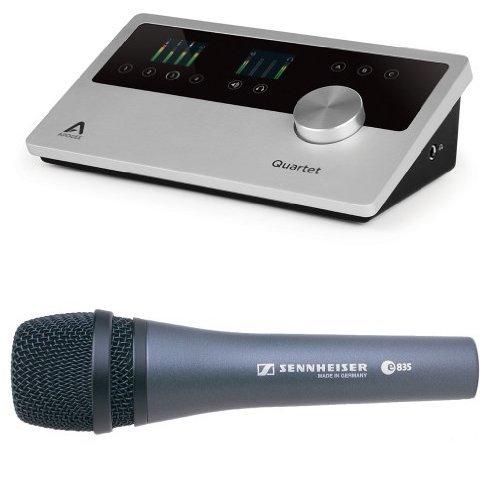 Apogee Quartet Audio Interface with Sennheiser E835 by Apogee
