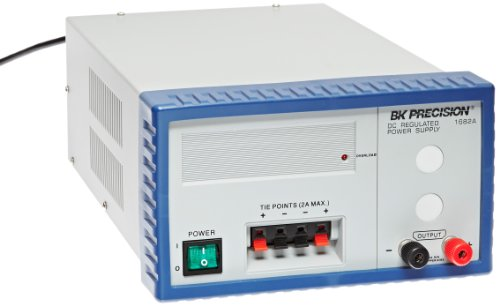 B&K Precision 1682A Fixed-Voltage Linear DC Power Supply, 13 8V DC, 12 Amp