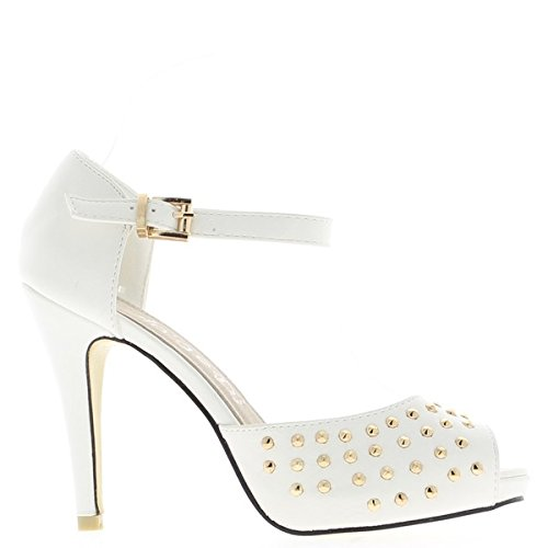 White open woman shoes 10.5 cm heel and platform O96S4wC2MS