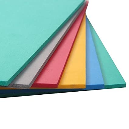 Kabeer Art 5mm Thick Foam Sheet 10 Different Color A4 Size: Amazon ...
