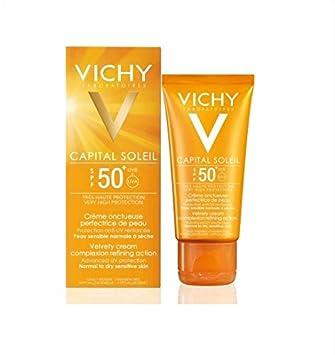853b7dcad Vichy Capital Soleil Face SPF 50 Velvet Sunscreen Cream 50ml: Amazon.ae