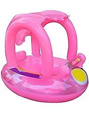 Flotador de natación para bebé con toldo inflable para piscina, flotador de barco, juguete