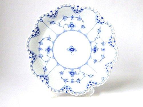 ロイヤルコペンハーゲン プレート■ブルーフルーテッド フルレース 花形 サービングプレート 大皿 1級品 B07DHDSB64
