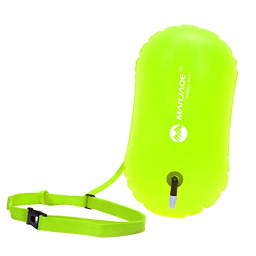 Baosity Waterproof PVC Swim Buoy Tow Float Air Bag Inflatable Swimming Bag with Waist Belt - Lightweight & Highly Visible - Fluo Yellow by Baosity (Image #9)