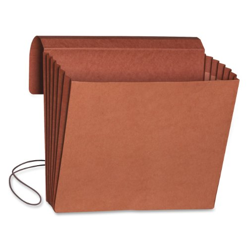 "Smead Wallet, 5-1/4"" Expansion, Flap and Cord Closure, Letter Size, Redrope, 10 per Box (71109)"