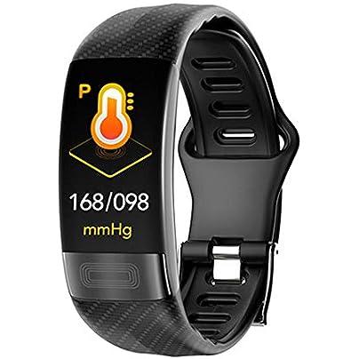 NFGGLM Smart Bracelet Sport Men Women Smartwatch ECG Bluetooth Wristband Heart Rate Monitor Call Message Reminder Estimated Price £33.97 -