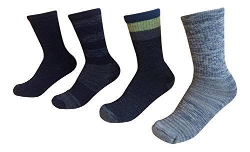 Kirkland Signature Womens Trail Sock Pack of 4 One Size Denim Heather Shoe Size 4-10