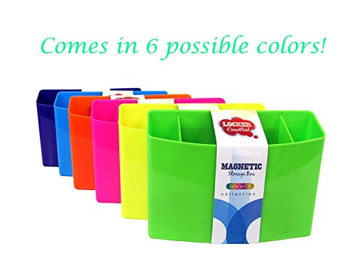 3 Section Magnetic Organizer / Locker Organizer - Pencil, Pen, Dry Erase Accessory Holder - Dimensions: Approximately 4