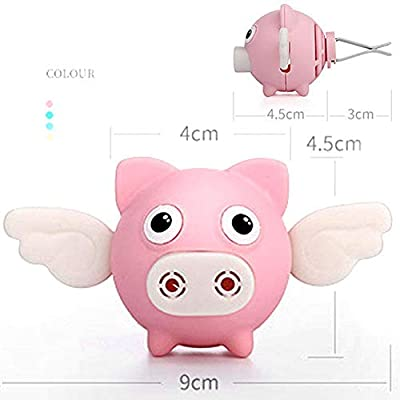 wonderfulwu 1PCS Car Air Freshener Decorations Perfume Cute Flying Pig Fragrance Interior Air Vent Holder Container (Pink): Automotive