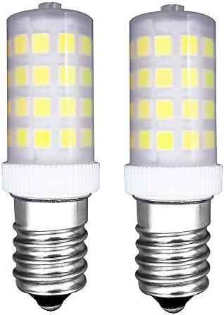 MZMing [2 Piezas] E14 Pequeño LED Bulbo 4W Bombillas Nevera - Dimmable 6000K Blanca Fría AC220-240V 450lm - Reemplazo de Bombilla Halógena de 40W-Calor Bajo Usado para Nevera/Máquina de Coser: Amazon.es: Hogar