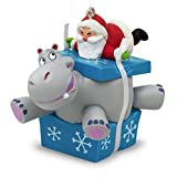 Hallmark Keepsake 2017 I Want A Hippopotamus For Christmas Santa Musical Christmas Ornament