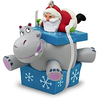 i want a hippopotamus for christmas santa musical ornament - Hallmark Christmas Decorations 2017