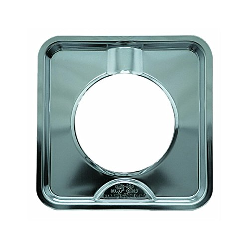 Chrome Self Cleaning Range - Range Kleen SGP-400 Chrome Square Range Pan / Yellow Label (4-PACK)