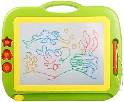 磁気製図板、ライティングスケッチパッドセットのための消去可能なカラフルマグナ落書きボード、44 * 36センチメートル (Color : Green)