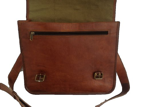 True Grit Leather Manchester in pelle, 14 cm-Borsa Messenger per computer portatile