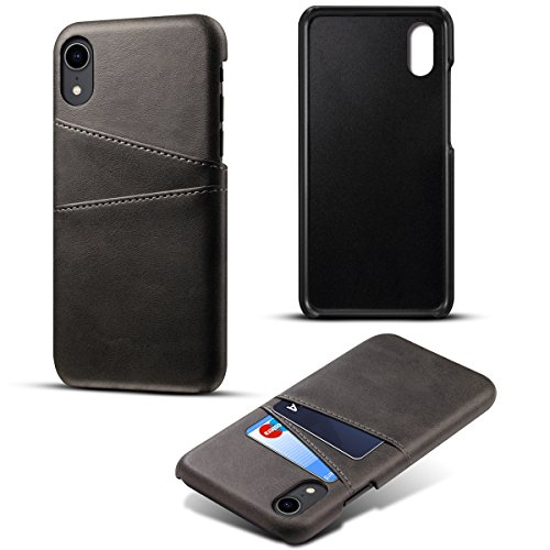 iPhone 9 Leather Wallet Case with Anti-Scratch, fitmore iPhone 9 Flip Cover, Anti-Scratch, Back Shell Case (Black)