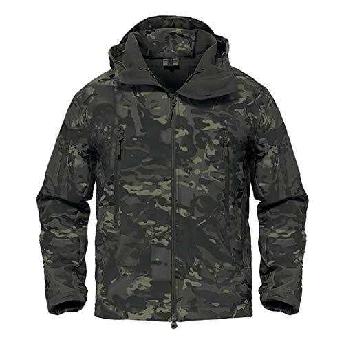 Armée Camouflage Veste Homme Manteau Veste Tactique Militaire d'hiver Randonnée Chasse Softshell Coupe-Vent 1