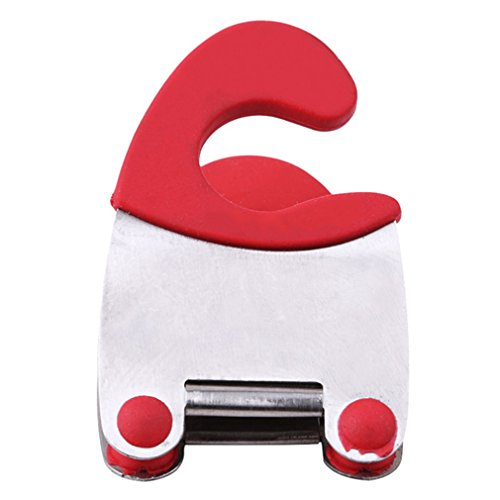 (EH-LIFE Kitchen Spoon Pot Clip Handy Kitchen Gadget Organize Red)