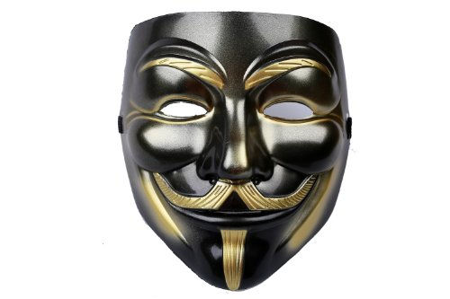 V For Vendetta Mask Fawkes Face Mask V2 Plastic Version Black ()