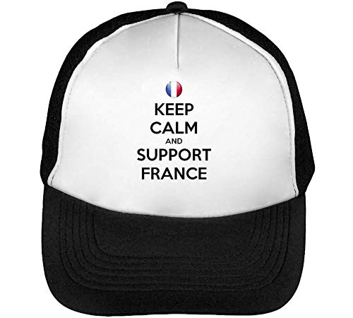 Beisbol Gorras Support Blanco Negro Hombre France Snapback Keep Calm ApfqxB