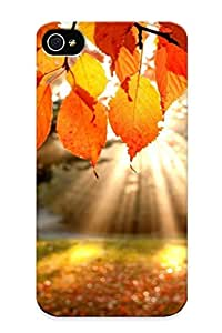 F3277a12143 Faddish Autumn Leaves Case Cover For Iphone 4/4s With Design For Christmas Day's Gift