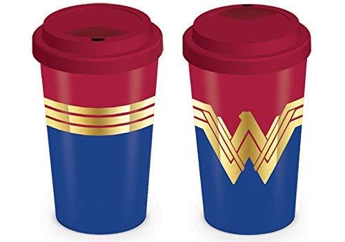 Wonder Woman - DC Comics Ceramic Travel Coffee Mug / Cup (Logo / Emblem)