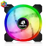 Asiahorse UFOII RGB LED 120mm Case Fan,Quiet Edition High Airflow Adjustable 100 Kinds of Chassis Fan Color, CPU Coolers,Radiators System(1PACK Without Hub)