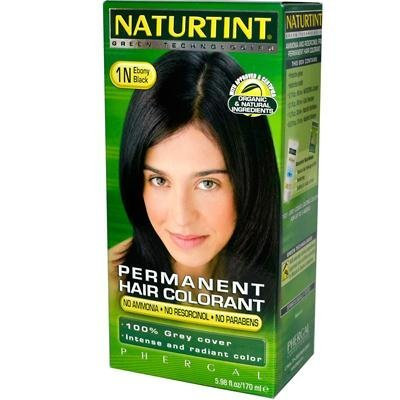 NATURTINT HAIR COLOR,1N,BLACK EBONY, 5.28 FZ by Naturtint by Naturtint