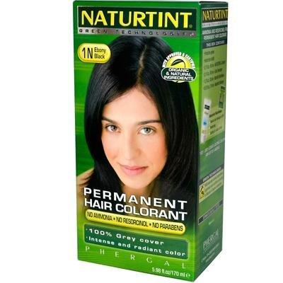 (Naturtint Hair Colorant,1N, Black Ebony, 2-Pack)