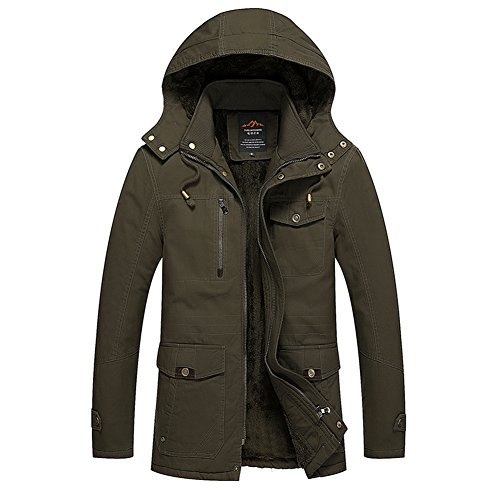 [H.T.Niao Jacket8935C1 Men 's Korean Version of Leisure Plus Cotton(Army Green,Size XXL)] (Toddler Conductor Outfit)