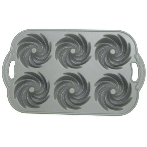 Nordic Ware 88002 Commercial Series Heritage Bundtlette Cake Pan