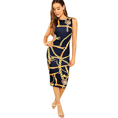 - TUSFTAY Women Sexy Spaghetti Straps Loose Dress Polka Dot Floor Length Sundress (S, Navy Blue)