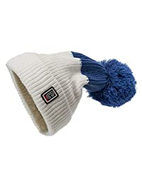 OMINA Hat Ladies Plus Velvet, Two-Color Curling Handmade Wool Weaving to Keep Warm