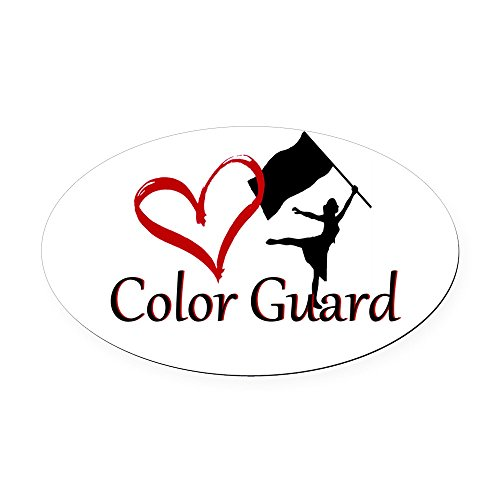 CafePress - Color Guard - Oval Car Magnet, Euro Oval Magnetic Bumper Sticker ()