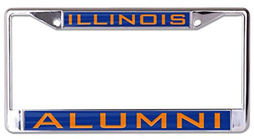 Illinois Plate Stickers - Wincraft University of Illinois Alumni Premium License Plate Frame, Chrome with 2 Mount Holes