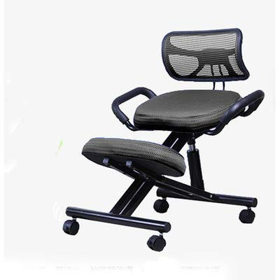 Mobile Kneeling Posture Chair Ergonomic Kneeling Chair Office with Orthopedic Back Pain Seat Adjustable Stool Thick Comfortable Cushions Black by M-GYG