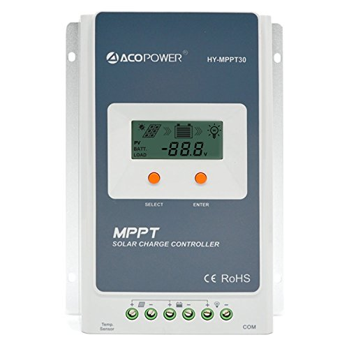 ACOPOWER 30A MPPT Solar Charge Controller 100V input HY-MPPT30A With LCD Display by ACOPOWER
