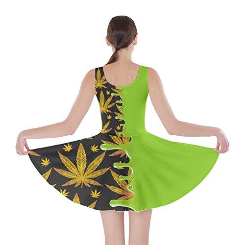 CowCow - Vestido - para mujer Lime & Dark Yellow