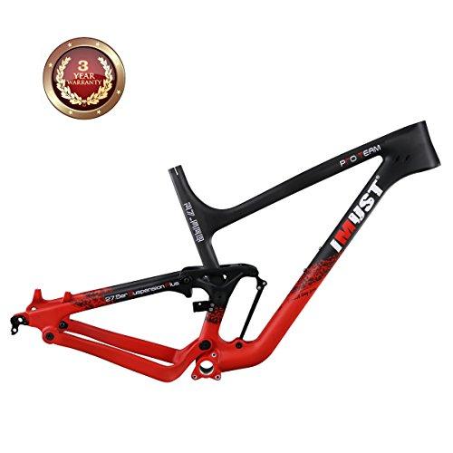 IMUST 27.5 Plus Trail Bike Suspension Carbon Frame 120mm Travel BSA M