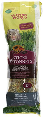(Living World Hamster Fruit Treat Sticks, 4-Ounce)