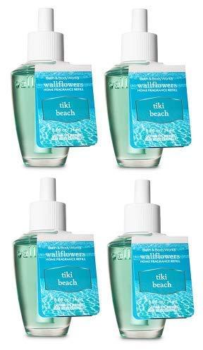 Bath and Body Works 4 Pack Tiki Beach Wallflowers Fragrance Refill. 0.8 fl oz.