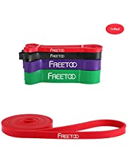FREETOO Resistance Workout Bands Stretch Exercise Pull up Rubber Bands for Men Women Training Fitness Band-Single Resistance Band