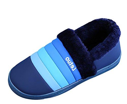 Unisexe Bleu Chaussons Profond Chaussures Intérieur Hiver Maison Pantoufles Icegrey Chaud Antidérapants Slippers dxCnHv