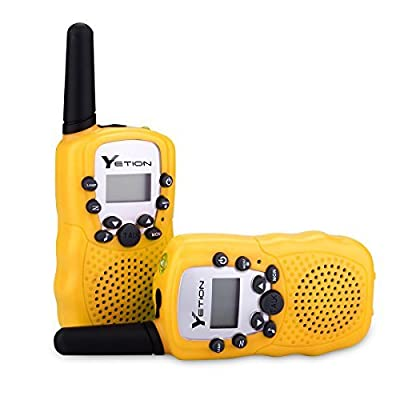 YETION Kids Walkie Talkies Two Way Radios Long Range Distance 22 Channel Clear Sound Toy Walky Talky for Christmas/Birthday Gift (Yellow x 4): Toys & Games