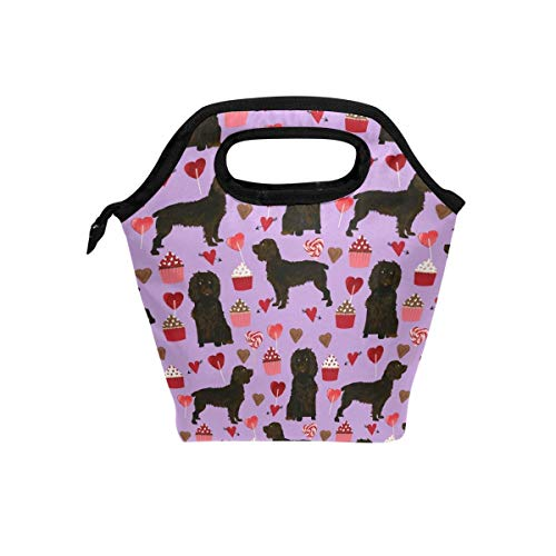 (Nopofjiobr Lunch Tote Bag with Boykin Spaniel Dog Print- Insulated Reusable Lunch Box, BaLin Thermal Colder Lunchbox for School Work Office Handbag for School Office)